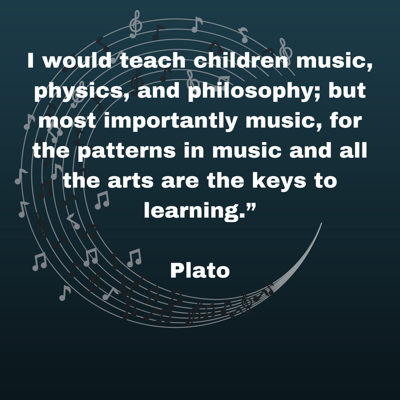 Plato quote: I would teach children music
