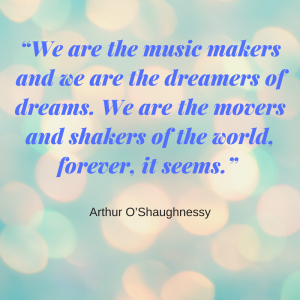 Quote: We are the music makers