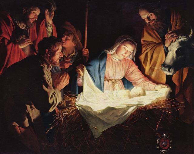 Mary and Jesus painting of the Nativity